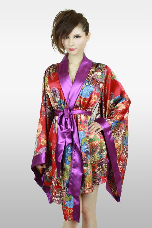 着物風羽織 紫